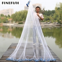 Finefish With sinker and without sinker Cast Net Fishing Network USA Hand Cast Net Outdoor Throw Catch Fishing Net Tool Gill net