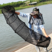 Super Strong 5-Layers Fishing Net PE Material Black Color Drive-In Net Monofilament Small Mesh Fish Net
