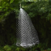 Fishing Net3cmX3cm  Trap Luminous Bead Copper Spring Shoal Netting Fishnet Tackle Fishing Accessories  C0929