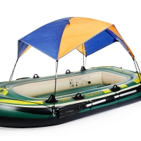 Inflatable Boat Tent Sun Shelter  3 to 4 Person  Fishing Boat Tent Sun Canopy Beach  camping Sunshade awnings