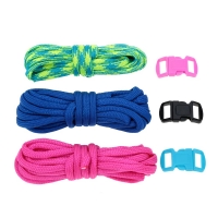 3Pcs 2.5m Paracord 7 Strand Parachute Cord Outdoor Emergency Survival Tool Hand-knitted DIY Kits