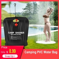 20L / 5 Gallons Solar Energy Heated Camp Shower Bag Outdoor Camping Hiking PVC Water Bag