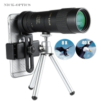 Powerful 8-40X40 High quality Zoom Monocular Professional Telescope Portable for Camping Hunting Lll Night Vision Binoculars HD