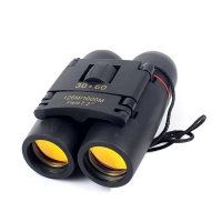 30x60 Compact Zoom Binoculars Long Range Folding HD Powerful Mini Telescope BAK4 FMC Optics For Hunting Sports Camping