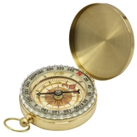 Camping clamshell compass with luminous pocket watch compass portable outdoor multi-function metal measuring ruler tool