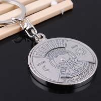 Outdoor Safety Tools 50 years perpetual Calendar Keyring Unique Compass Metal KeyChain Gift Camping Equipments Hiking Accessory