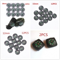 12Pcs 12/15/20mm Mini Button Compasses Portable Handheld Outdoor Sports Camping Travel Hiking Hunting Emergency Survival Compass