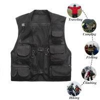 Quick-Drying Mesh Tactical Vest Ultralight Fishing Vest Warm Military Camping Vest Outdoor Men Waistcoats with Multi Pocket