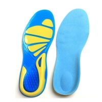 Spring and summer silicone rubber sports insole and military insole Sport Running Gel Insoles Insert Cushion for Men Women