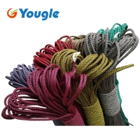 YOUGLE 550 Paracord  Paracord Parachute Cord Lanyard Rope Tent Guyline Mil Spec Type III 7 Strand Core 50-100 FT 215 Colors