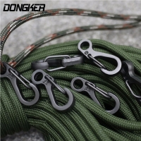 10Pcs/Lot Outdoor Mini Aluminium Alloy Hang Buckle Survival EDC Gear Carabiner Key Chain Clip Quickdraw Key Chain Travel Tools