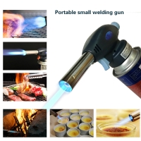 Camping Equipment Outdoor Blow Torch Butane Gas Flamethrower BBQ Baking Burner Welding Auto Ignition Small