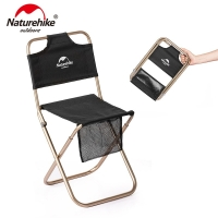 Naturehike Portable Ultralight Small Campstool Outdoor Camping Chair Folding Stool Fishing Beach Alluminum Alloy ChairNH18M001-Z
