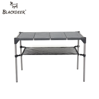 BLACKDEER Ultra light Outdoor Camping Desk Aluminum Alloy Folding Table Portable Picnic Fishing Beer Table Detachable