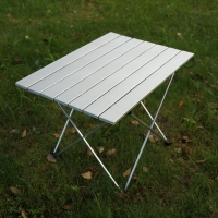 Portable outdoor camping table aluminum folding beach camping table  ultralight waterproof outdoor Multi-color dining table