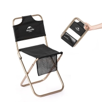 Naturehike Alluminum Alloy Frame 600D Oxford Cloth Fabric Outdoor Camping Folding Stool Relax Rest Backrest Chair For Fishing