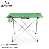 BLACKDEER Camping Equipment Outdoor Portable Foldable Folding Fishing Table Desk Travel Picnic Aluminium Alloy Ultralight 1.15kg