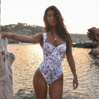 Ashgaily 2021 New One Piece Swimsuit Sexy Cartoon Printed Swimwear Women Bathing Suit Beach Backless Monokini Swimsuit Female