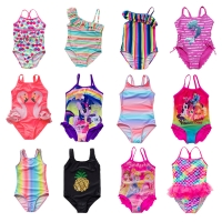 2020 Kid Girl Swimwear One Piece Children Swimwear Mermaid Swimsuits Girls Bathing Suits Beachwear Girls One Piece Swimwear