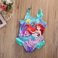 Hot Sale Kids Baby Little Girls Mermaid Costume Bikini Swimwear Swimsuit Outfit One-Piece Swimming Bathing Beach Swimwear
