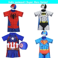 boy one piece swimsuit swimwear Minions Bathing Suit Batman Swimming Boys Captain America Kids Sport Baby Beachwear