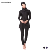 YONGSEN Muslim Swimming Women Modest Coverage Hijab Plus Size Muslim Swimwear Bathing Suit Beach Swimsuit for Arabian Burkinis