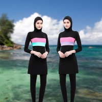 News Plus Size Burkinis Modest Clothing Islamic Muslim Swimsuit Separated Women Long Muslimah Hijab Muslim Full Cover Swimwears