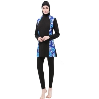 Muslim Swimsuit Plus Size Islamic Swimwear Women Full Face Hijab Swimwear Burning Islam Swimsuit With Flowers Clothing Burkinis
