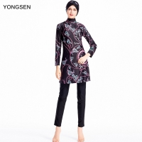 YONGSEN Plus Size Burkinis Islamic Muslim Swimwear Women Girls Modest Hijab Swimsuit Islamic Women Muslim With Swim Hat