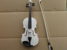 chilren learning  white violin  1/8  1/4 1/2  3/4 4/4 full set with case and bow