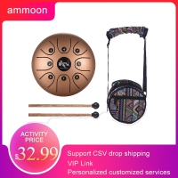 5.5 Inch Tongue Drum Mini 8-Tone Steel Tongue Drum C Key Hand Pan Drum with Drum Mallets Carry Bag Percussion Instrument