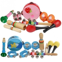 10pcs Orff Musical Instruments Set Children Early Childhood Music Percussion Toy Combination Kindergarten Teaching Aids