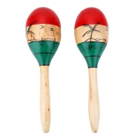 1 Pair Wooden Maracas Durable Large 25cm Musical Educational Instrument Toy for Children Kids Maraca