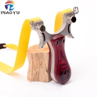 High Quality Stainless steel Slingshot Catapult for Hunting With Flat Rubber Band Outdoor Shooting Game sling shot