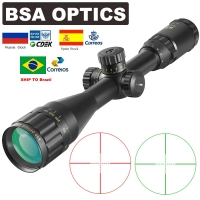 BSA OPTICS 4-16x44 ST Tactical Optic Sight Green Red Illuminated Riflescope Hunting Rifle Scope Sniper Airsoft Air Guns