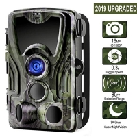 Suntekcam HC-801A+ 16MP 32GB Hunting Camera 1080P Trail IP65 Photo Traps 0.3s Trigger Time Wild For Hunter Night Vision