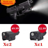 SF High Lumen XC1 and XC2 Red dot Laser Light Compact Pistol Flashlight 20mm Tactical LED MINI White Light Airsoft Used