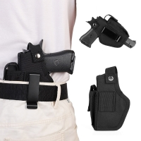 Hunting Articles Leather Gun Holster for Concealed Carry Pistol Airsoft Gun Bag  for S&W M&P Shield All Similar Sized Handguns