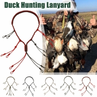 Duck Game Call Lanyard with 12 Adjustable Loops Lanyard Holder Hand Braided Paracord Hunting Decoys Rope