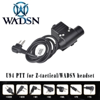 WADSN Airsoft Headphone U94 PTT for KENWOOD Plug Walkie Talkie BaoFeng UV-82 Radio Headset Softair WZ113