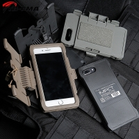 TB-FMA Best IPHONE 7/8 Plus Mobile Pouch Black / DE / FG for Molle Vest System Chest-Mounted Mobile Phone Case Free Shipping