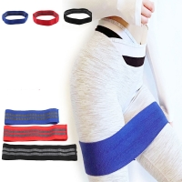 Anti Slip Cotton Hip Band Resistance Bands Booty Exercise Elastic Bands For Yoga Stretching Training Fitness Workout