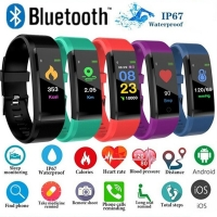 Outdoor Screen Smart  Blood Pressure Heart Rate Pedometer Fitness heart rate monitor Wireless Sports Watch Fitness Equipment