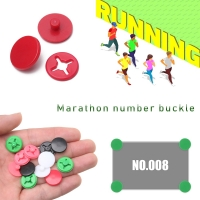 4 set Marathon Triathlon Running Number Trail Run Cloth Buckle Number Fixing Clip Race Bib Number for Belt Bag Cloth Accessories