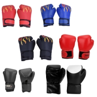 Adult Child Boxing Gloves PU Professional Training Fighting Gloves Muay Thai Sparring Punching Kickboxing Breathable Gloves