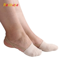 Rhythmic Gymnastics Toe Shoes Soft Half Socks Knitted Roupa Ginastica Professional Competition Sole Protect Elastic Skin Color
