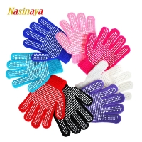 Nasinaya Figure Skating Gloves For Kids Girl Adult Magic Knitted Mittens Elastics Warm Fleece Ice Skating Snow Protect Hands 2