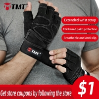 TMT Gym Gloves Breathable Heavyweight Exercise Weight Lifting Man Crossfit Body Building Training Sport Fitness Workout Gloves