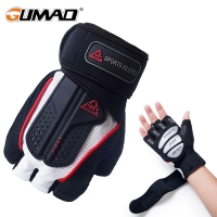 Strong Fitness Gym Half Finger Gloves Weight Lifting Dumbbell Fitness Exercise Non-Slip Building Sports Training Protect Gloves