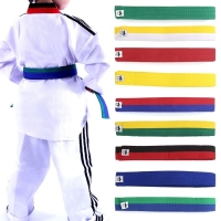 Professional Taekwondo Belt Karate Judo Double Wrap Martial Arts Stripe Sports hot selling Protective Waistband
